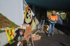 Stripfiguren in tunnel bij De Leijen moeten vandalisme stoppen